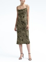 Banana Republic Strappy Camo-Print Slip Dress
