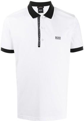 HUGO BOSS Logo-Trimmed Polo Shirt