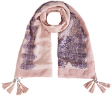 White Stuff Meadow Lace Silk Scarf, Pink