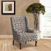 FurnitureSkinsTM Bali Stretch Wing Chair Slipcover in Tobacco