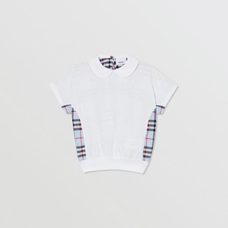 Burberry Childrens Check Panel Cotton Top