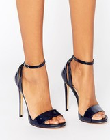 Navy Ankle Strap Heels - ShopStyle