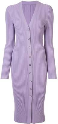 Dion Lee Pinnacle ribbed cardigan dress