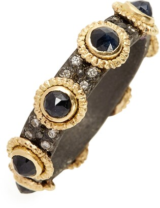 Armenta Old World Sapphire & Diamond Stacking Ring