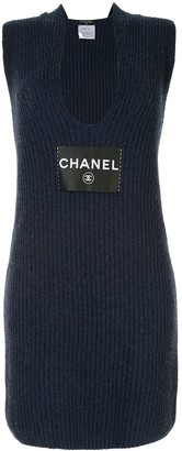 Chanel Pre Owned 2008 CC Logos Sleeveless Dress One Piece