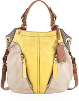Oryany Victoria Colorblock Shoulder Bag, Beige/Yellow