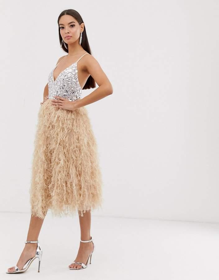 778872182385a Asos Feather Dress - ShopStyle