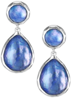 Ippolita Rock Candy Sterling Silver & Triplet Double-Drop Earrings