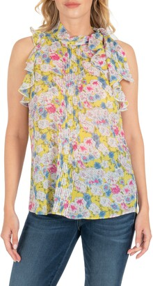 KUT from the Kloth Anatasia Floral Print Sleeveless Blouse