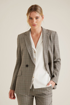 Seed Heritage Tailored Check Blazer