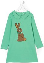 Mini Rodini rabbit print dress - kids - Organic Cotton/Spandex/Elastane - 5 yrs