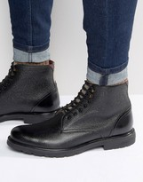 Ted Baker Karusl Pebble Grain Lace Up Boots