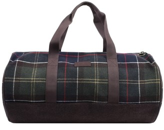 Barbour Check Hardwick Bag Brown