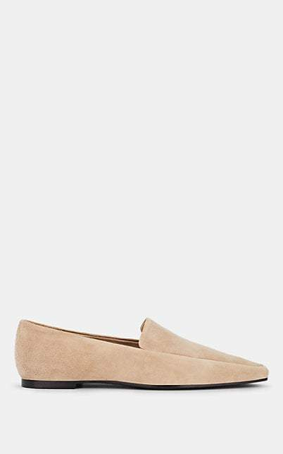 The Row Women's Minimal Suede Loafers - Beige