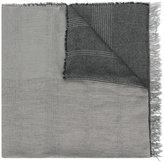 Fabiana Filippi contrast fringed scarf