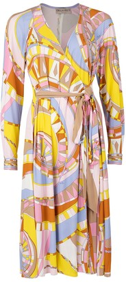 Emilio Pucci Wrap Print Dress