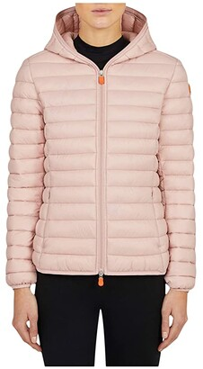 Save The Duck Giga Hooded Jacket (Blush Pink) Women's Clothing