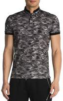The Kooples Pique & Army Print Regular Fit Polo