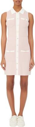 Maje Sleeveless Button-Up Dress