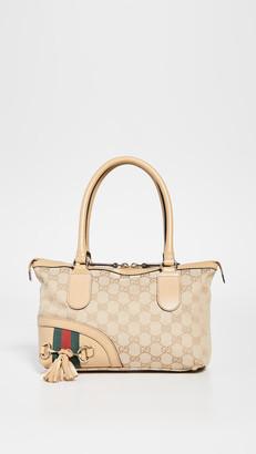 Shopbop Archive Gucci GG Canvas Horsebit Fringe Bag