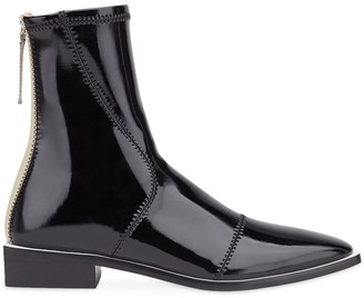 Fendi FFrame pointed toe ankle boots