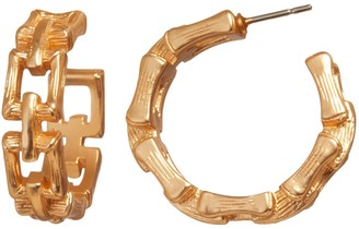 Banana Republic Bamboo Chain Hoop Earrings