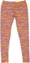 No Name Orange & Purple Tiger Stripe Leggings - Women