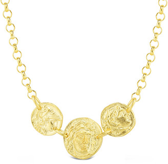 Sphera Milano Gold Over Silver Triple Coin Necklace