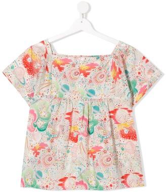 Bonpoint TEEN floral print floral blouse