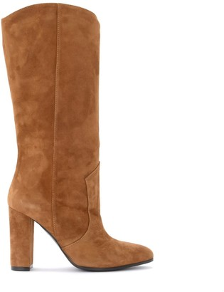 Via Roma 15 Boot In Leather-colored Suede