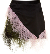 Christopher Kane Feather-embellished satin mini skirt