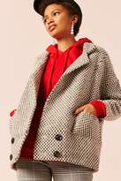 Forever 21 Frnch Double-Breasted Geo Coat