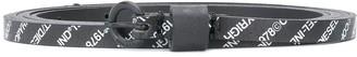 Diesel Skinny Logo-Print Belt