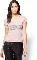 New York & Co. Feeling Fierce Logo Tee