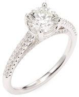 Rina Limor Fine Jewelry 18K White Gold & 1.42 Total Ct. Diamond Engagement Ring