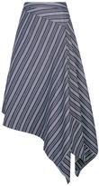 Palmer Harding Palmer//harding Asymmetric Hem Striped Skirt