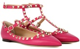 Valentino Garavani Rockstud leather ballerinas