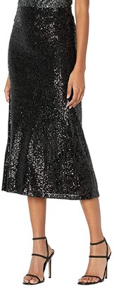 BB Dakota x Steve Madden Starry Night Skirt (Black) Women's Skirt