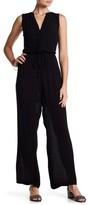 Nina Leonard - L5572A Front Placket Tie-Waist Jumpsuit