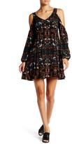 Romeo & Juliet Couture Shoulder Cutout Printed Dress
