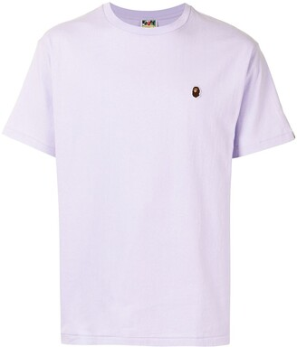 A Bathing Ape embroidered ape face cotton T-shirt