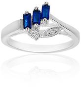 Bliss Blue & White Sapphire Baguette-Cut Branch Ring