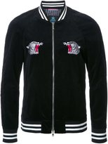 GUILD PRIME embroidered back bomber jacket - men - Cotton - 1