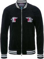 GUILD PRIME embroidered back bomber jacket