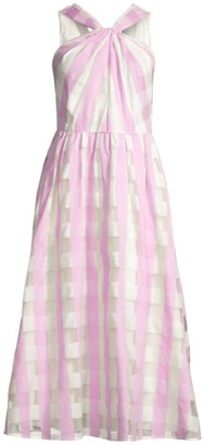Kate Spade Gingham Organza Midi Dress