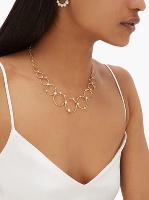 Fernando Jorge Aerial Loops Diamond & 18kt Gold Drop Necklace - Gold