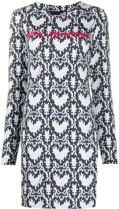 Love Moschino Snakeskin Print Dress