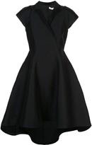 Halston satin wrap dress
