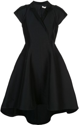 Halston satin wrap dress
