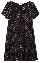 Love, Fire Girl's Foil Polka Dot Jersey Dress